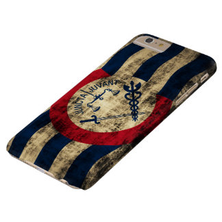 Cincinnati Ohio Grungeflagga Barely There iPhone 6 Plus Skal