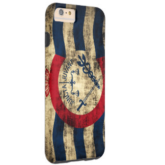 Cincinnati Ohio Grungeflagga Tough iPhone 6 Plus Skal
