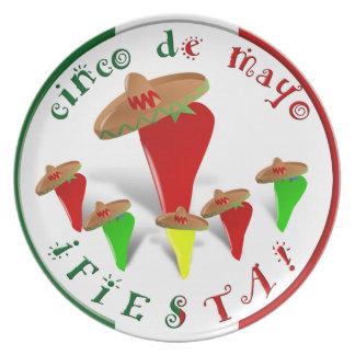 Cinco De Mayo Fiesta! DansChilipeppar Tallrik