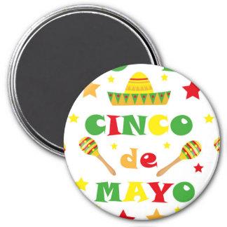 Cinco de Mayo Fiesta i den Mexico helgdag Magnet