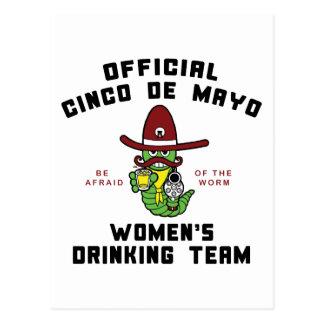 Cinco de Mayo kvinna dricka lag Vykort