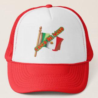 Cinco de Mayo Mexico flaggaT-tröja och gåvor Truckerkeps