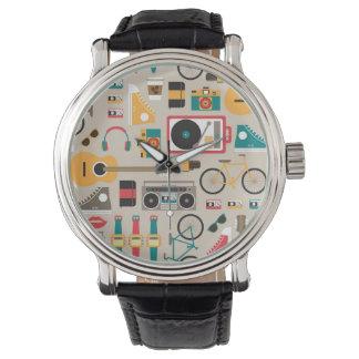 (Cinereous) mönster för Hipsterrific Hipstersaker, Armbandsur