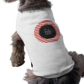 Cinnabarrandar; Randigt; Retro svart tavla Hund Tröja