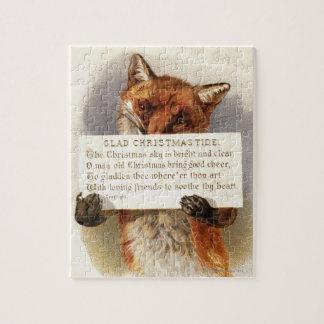 Circa 1900: En räv rymmer en julverse Pussel
