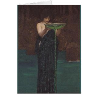 Circe Invidiosa vid den John William waterhousen Hälsningskort