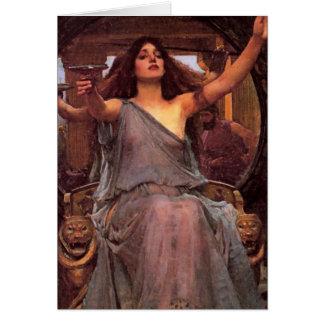 """""""Circe som erbjuder koppen till Odysseus """", Hälsningskort"""