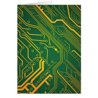 Circuitboard Hälsningskort