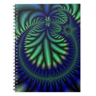 Cirkla av anteckningsboken för livFractalkonst Anteckningsbok