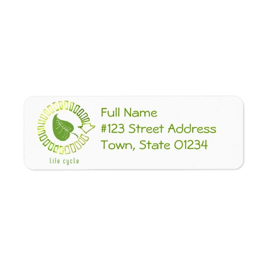Cirkla av livreturadressetikett returadress etikett