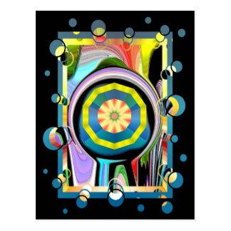 Cirkla cirklar på vykort