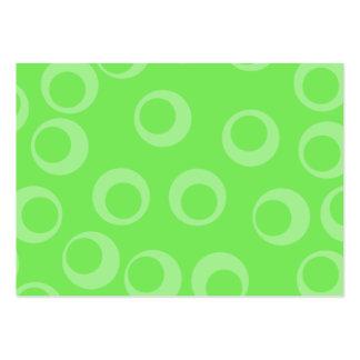 Cirkla designen i grönt. Retro mönster. Anpassning Visitkort Mall