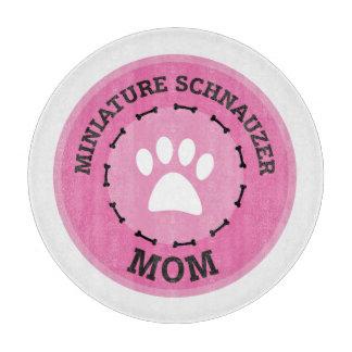 Cirkla emblem för miniatyrSchnauzermamman