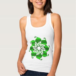 cirkla löv görar grön mandalaen t-shirts