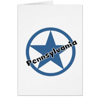 Cirkla Pennsylvania Hälsningskort