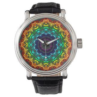 Cirkla prydnaden, Mandalakonstklocka Armbandsur