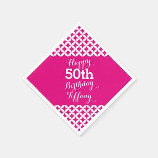 Cirkla servetter för den 50th födelsedagen för