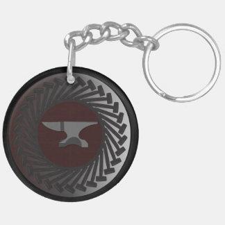 Cirkla (tvåsidiga) Keychain - STÄDET & BULTAR