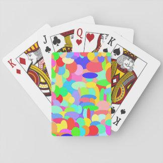 Cirklar av färg som leker kort spel kort