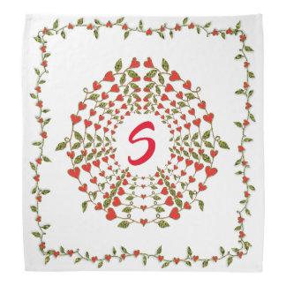 Cirklar av kärlekhjärtablom på scarf