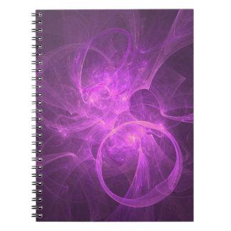 Cirklar den abstrakt fractalen för rosor och för anteckningsbok med spiral