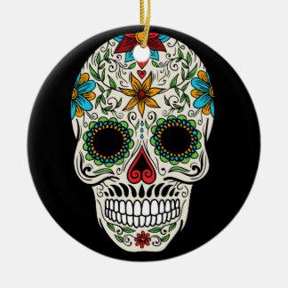 Cirklar den döda sockerskallen för dagen prydnaden julgransprydnad keramik