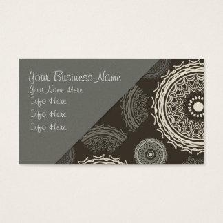 Cirklar den gråa taupen för silver abstrakt visitkort