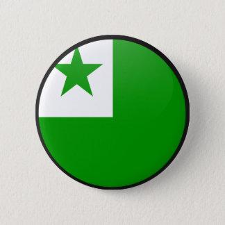 Cirklar den kvalitets- flagga för Esperanto Standard Knapp Rund 5.7 Cm