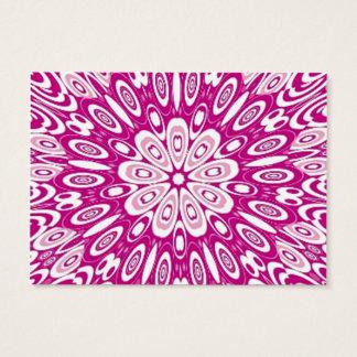Cirklar den Retro rosan för den gulliga Visitkort
