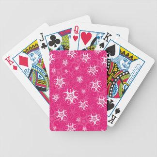 Cirklar den rosa vitskörden för gnistran spelkort