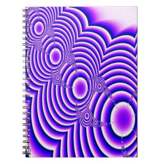 Cirklar den spiral anteckningsboken anteckningsbok
