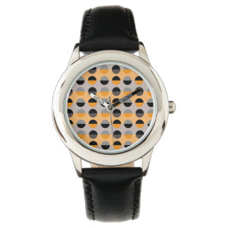 Cirklar för svart geometrisk coola grå färgrandar armbandsur