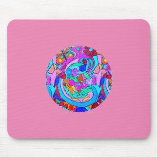 cirklar groovy kärlek för hippien rosor musmatta