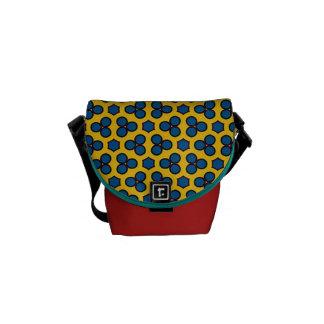 Cirklar gul blått för design 02 sexhörningen kurir väska
