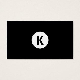 Cirklar modern vit för den enkla slättsvarten visitkort