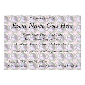 Cirklar och kuber 12,7 x 17,8 cm inbjudningskort