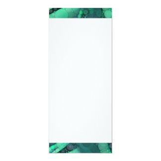 Cirklar purpurfärgade Retro för abstrakt Aquagrönt 10,2 X 23,5 Cm Inbjudningskort
