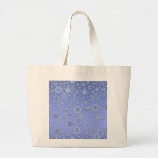 Cirklar purpurfärgat koncentriskt för blått jumbo tygkasse