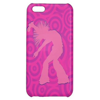 Cirklar rosa Retro för skraj sångaredansare iPhone 5C Fodral