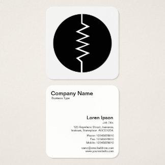 Cirklat svartvitt motståndssymbol - fyrkantigt visitkort