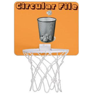 Cirkuläret sparar den mini- basketringen Mini-Basketkorg