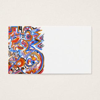 Cirkus för tre ring - abstrakt konstvisitkortar visitkort