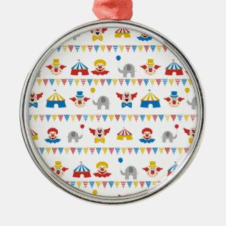 Cirkus Rund Silverfärgad Julgransprydnad
