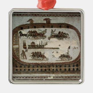 Cirkusen spelar, från Carthage, romare Julgransprydnad Metall
