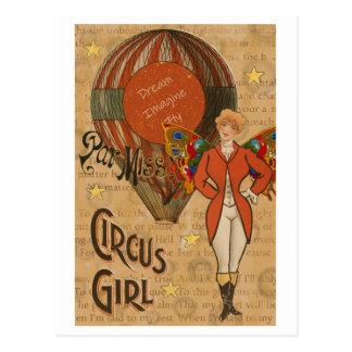 Cirkusflicka Vykort