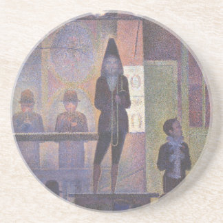 CirkusSideshow av Georges Seurat, vintagekonst Underlägg Sandsten