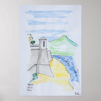 Citadelle d'Ajaccio, Ajaccio | Corsica, frankrike Poster