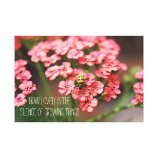 Citationstecken för blommor för trädgårds- canvastryck