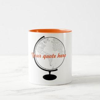 Citationstecken för jordklot DIY Två-Tonad Mugg