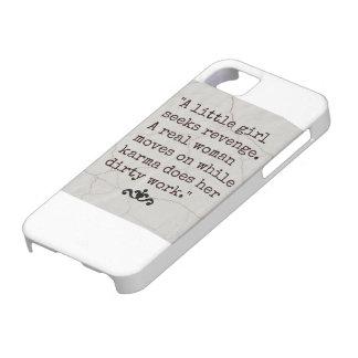 Citationstecken för Karma för citationstecken för iPhone 5 Skal